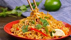 The easiest, most delicious Chicken Pad Thai is full of authentic flavor and better than takeout. And it'll be ready in 20 minutes.