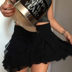 Take me dancing black skirt  So you want to go dancing this is the perfect skirt to take that dance floor on so cute and fun. Do you have your New Years outfit yet?    Skirt is in new condition                                                                      ✅will bundle  ✅ all reasonable offers will be considered  ✅ No Trading  Poshmark rules only‼️ Not all sizes are the same measurements Measurements taken laying flat               Ⓜ️Waist 15. No Stretch…