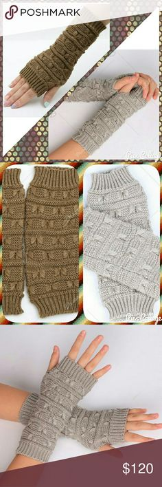 COMING SOON! Knit Hand Warmers Brown & taupe hand warmers, coming soon! Like this listing to be notified when they arrive via price drop! :) Accessories Gloves & Mittens