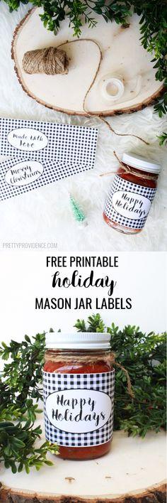 Printable Mason Jar Printable Mason Jar Labels from Pretty Providence for your Christmas treats! Christmas Mason Jars, Christmas Diy, Xmas, Aussie Christmas, Christmas Jingles, Christmas Decorations, Jar Labels, Labels Free, Christmas Treats For Gifts