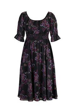 eShakti Women's Floral graphic chiffon print dress XS-0 Short Black multi eShakti http://www.amazon.com/dp/B00NSOK6LS/ref=cm_sw_r_pi_dp_8IUjub00MN4RK