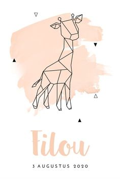 Unique birth announcement girl with giraffe of geometric shapes, announcement Y You are in the right place about Baby Girl Names with r Here we offer you the mos Baby Shower Themes Unisex, Unisex Baby Names, Baby Girl Names, Boy Names, Baby Boy, Geometric Drawing, Geometric Shapes, French Baby, Baby Names And Meanings