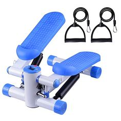 Air Stair Climber Step Exercise Fitness Machine w Bands Aerobic Equipment Blue ** More info could be found at the image url.(This is an Amazon affiliate link and I receive a commission for the sales)