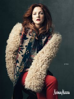 Drew Barrymore, for Neiman Marcus (Photography by Norman Jean Roy)   2011