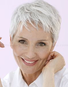 short hairstyles over 50, hairstyles over 60 - pixie hairstyle for grey hair