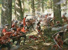 Británicos vs nativos americanos en la guerra Franco india