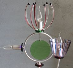 This just might be the coolest table lamp I have ever seen.   TOP DESIGN 90s ARTEMIDE TABLE LAMP ANDREA ANASTASIO ( murano venini italy )