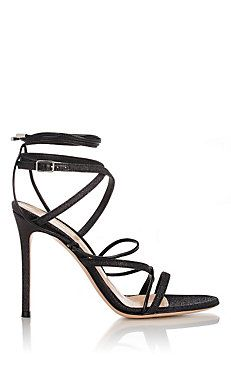 f91672038c7c Gianvito Rossi Glitter Ankle-Strap Sandals High Heel Sneakers