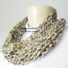 Gola tricô - Cowl - knitting - winter by www.rosaacessorios.blogspot.com