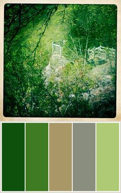 Color Palette - hunter green, light grey, dark grey, pink ...