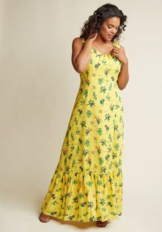abfc39a9d4673 This yellow maxi dress from our ModCloth namesake label promises  breathlessness from your fellow fete-goers
