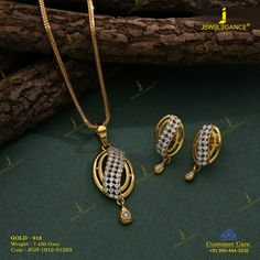 Gemstone Pendant Set jewellery for Women by jewelegance. ✔ Certified Hallmark Premium Gold Jewellery At Best Price Gold Chain Design, Gold Bangles Design, Gold Earrings Designs, Gold Jewellery Design, Pendant Set, Diamond Pendant, Gold Jewelry Simple, Silver Jewellery Indian, Womens Jewelry Rings