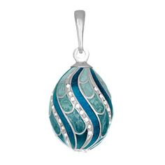 Tenderness  Egg Pendant Blue, 70€, now featured on Fab.