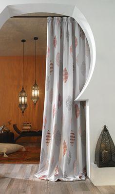 vorhang von boxxx zartes muster in wei setzt akzente. Black Bedroom Furniture Sets. Home Design Ideas