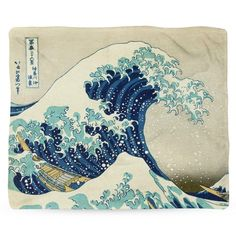 "Great Wave Blanket, Beach Theme Decor, Fleece Blanket, Japanese Ocean Art, Nautical Decor, Blanket Throws, Classic Art, Famous Painting - 30x40"" Baby Blanket"