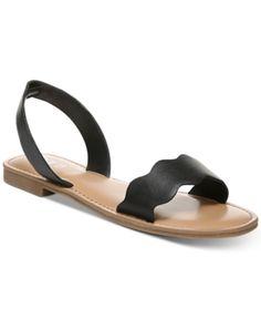 be82aee529 Bar Iii Leena Flat Sandals, Created for Macy's - Black 5.5M Flat Sandals,