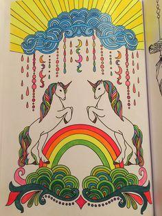 Unicornio multicolor #arteantiestres