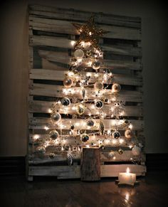 20 Christmas Decorations Using Pallets