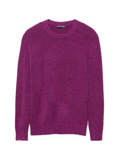 005fc58acb7 Plush Wool Blend Crew-Neck Sweater