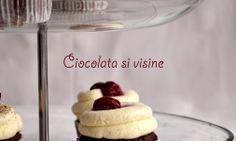 cupcakes cu ciocolata si visine Cupcakes cu ciocolata si visine… Homemade Food, I Foods, Tasty, Favorite Recipes, Plates, Meals, Breakfast, Licence Plates, Morning Coffee