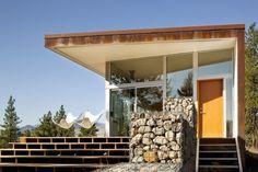 David Coleman Architect Gabion Wall, Gardenista