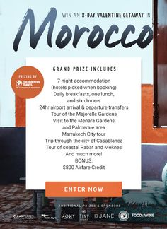 Win a trip to Morocco Oh The Places You'll Go, Places To Travel, Win A Trip, Look Here, Adventure Is Out There, Vacation Destinations, Things I Want, Fun, Opportunity