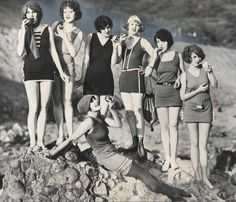 Flapper era swimwear