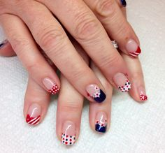 4th of July gel nails