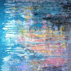 "'Innocent Eyes - Abstract Acrylic Painting 32x32' by Robert Erod | $300 | 32""W x 32""H x 1""D | Original Art | http://vng.io/pauli_clariday @VangoArt"