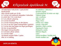 Német nyelvtanulás- kifejezések ápolóknak 4. rész | Németországi Magyarok German Language, Marketing, Education, Learning, Words, Hungary, Learn German, Fruit, Studying