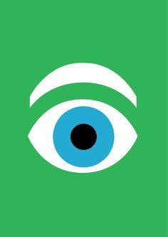 IBM Eye Poster 1981 by Paul Rand #illustration