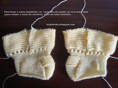 Tentei explicar nesse PAP, a calça com sapatinho.  Nessa fase, teremos a parte do sapatinho, e início da perna.  Conforme a evolução da cois...