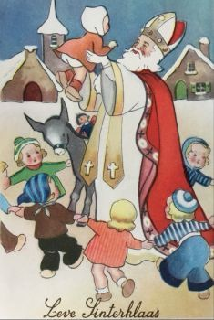 Everything about St Nicholas: stories, customs, crafts & French Christmas, Noel Christmas, Victorian Christmas, Father Christmas, Vintage Christmas Cards, Christmas Images, Vintage Cards, Scandi Christmas, Xmas