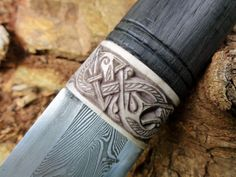 Carved viking knife ferrule, by Petr Floriánek http://art-of-swords.tumblr.com/post/118938420212/photoset_iframe/art-of-swords/tumblr_nobx1dskRW1rrjmgo/500/false