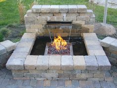 """Pondless Water Features Kits   EasyPro Fire & Water Kit: Ok this is basically what I want but 7ft tall, more of a trickle (less water, but more water """"noise"""") no pond and more of a horizontal firepit. Oh and maybe add metal (copper?) somewhere as well as incorporate planters. Diy Fire Pit, Fire Pit Backyard, Backyard Patio, Fire Pits, Desert Backyard, Modern Backyard, Backyard Ideas, Diy Water Feature, Backyard Water Feature"""