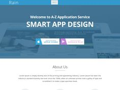 Have a look at Rain – HTML5 App Landing Page Bootstrap Template. If you are an app entrepreneur, game entrepreneur or an app developer or game developer, then this free Bootstrap template is the best choice for building your website.