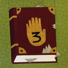 """Fandom In Stitches: Gravity Falls: Journal 3 by Melissa Bejot 12"""" Paper Pieced Free from fandominstitches.com Free for personal and non-profit use only"""