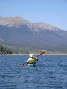 From Beverly B. at the Dillon Reservoir in Frisco. Looks like a great place to paddle to us!