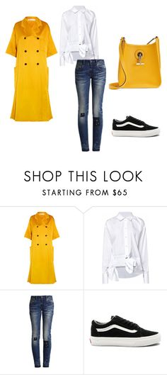 """""""yellow"""" by nenzie ❤ liked on Polyvore featuring Victoria Beckham, Vans and Hermès"""