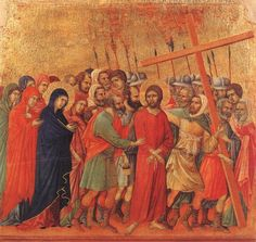 Way to Calvary 1308 Duccio di Buon