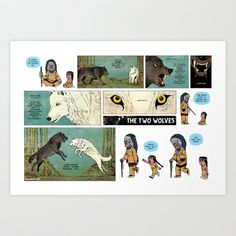 94. The Two Wolves Art Print by Zen Pencils - $17.00  Also Check back for the Bill Watterson Print