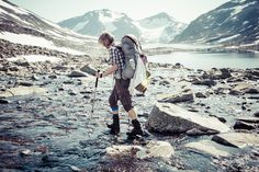View top-quality stock photos of Side View Of Female Hiker Crossing River. Find premium, high-resolution stock photography at Getty Images. Hiking Fashion, Adventure Photos, Roadtrip, Side View, Still Image, Trekking, Places To See, Outdoor, River
