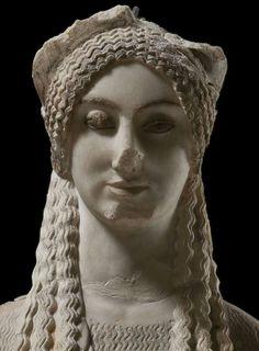 Kore, Acropolis Museum, Athens.