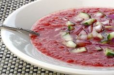 Watermelon Gazpacho! YUM!