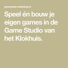 Speel én bouw je eigen games in de Game Studio van het Klokhuis. Programming, Studio, Computer Programming, Study, Coding