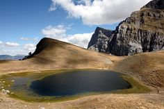 Dragon Lake of Gamila, at 2497m altitude - Epirus, Greece .
