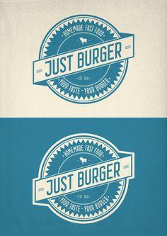 Just Burger by Raumschraube Grafik, via Behance
