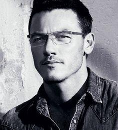 Just Luke Evans looking hot in eyeglasses. Just looking hot, period...