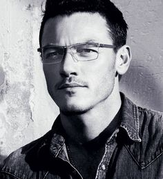 Just Luke Evans looking hot in eyeglasses.
