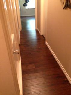 Rustic cherry hand scraped wood floor